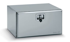 L600 x H400 x D500mm Stainless Steel Toolbox - Matt Finish with S/S Lock