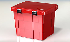 Plastic Grit boxes 108 Litre with lock
