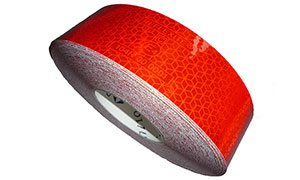 Orafol ECE104 Red Reflective Conspicuity Tape, Compliant with Latest Regulations